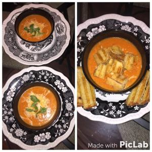 Roasted Garlic Tomato Soup w Grilled Cheese